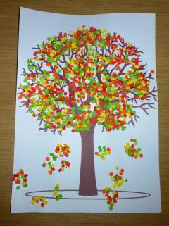 arbre automne confettis p